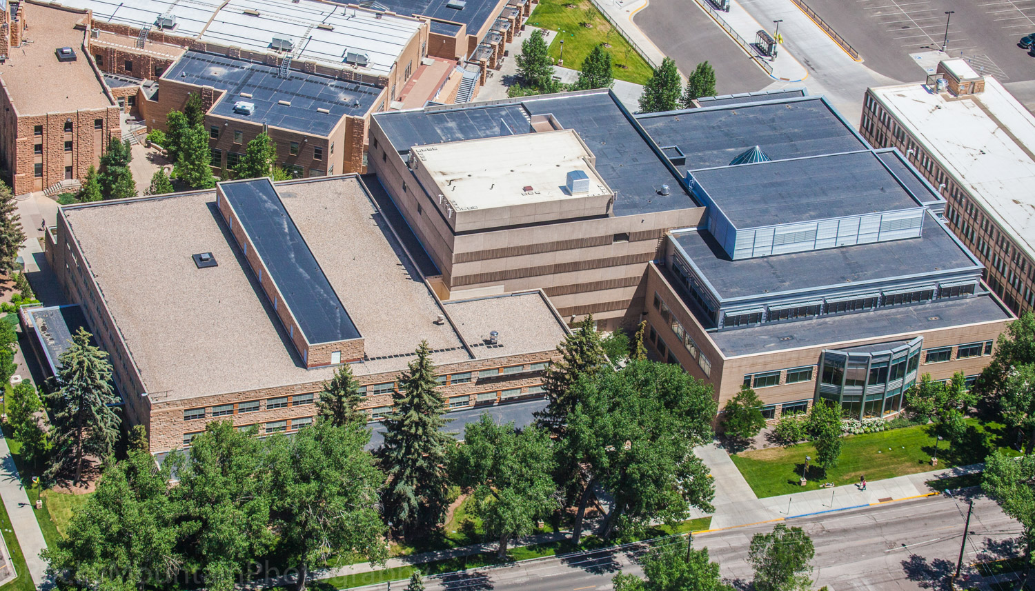 University of Wyoming Coe Library Aerial